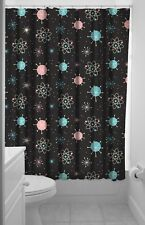 Sourpuss Sputnik Gothic Retro Atomic Galaxy Punk Tattoo Shower Curtain SPSC20