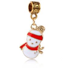 1pcs Christmas snowman Charm Pendant fit European Silver Bracelet DIY A#455