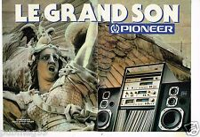 Publicité advertising 1980 (2 pages) La Chaine Hi-Fi Pioneer