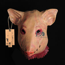 Adult Saw Pig Head Mask Cosplay Halloween Fancy Dress Accessories Costume