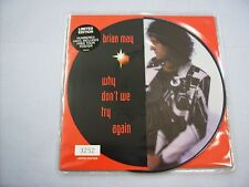 """BRIAN MAY - WHY DON'T WE TRY AGAIN - 7"""" PICTURE DISC NUMBERED COPY #3252"""