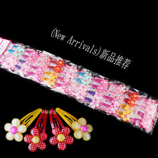 Wholesale 40pcs Mixed Flower Baby Kids Child Girls Hair Pins Clips Slides Grips