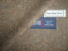 100% PURE NEW WOOL DONEGAL TWEED FABRIC – MADE IN HUDDERSFIELD ENGLAND - 2.0 m.