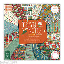 DOVECRAFT Paper 12x12 Full Pack First Edition - TRAVEL NOTES - Scrapbooking