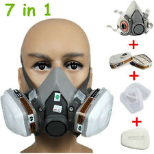 Safety Painting Spraying For 6200 Half Face Dust Gas Mask Respirator W Cartridge