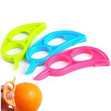 3PCS Citrus Orange Opener Peeler Slicer Cutter Plastic Lemon Fruit Skin Remover