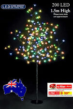 200LED 1.5M Multi-colored CHERRY BLOSSOM SOLAR CHRISTMAS OUTDOOR TREE