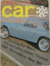 CAR magazine 12/1965 Featuring Fiat 2300S, Mercedes SL