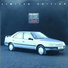 Peugeot 405 Style Limited Edition Sales Brochure - October 1990