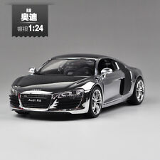 1:24 Audi R8 Alloy Diecast car Model Toy Vehicle Gift Plated Silver B2566