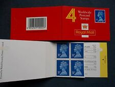 GH1 BOOKLET 31p DECIMAL MACHIN DEFINITIVES BLOCK IMPERF TOP BOTTOM UHW3 UG50