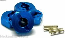 L176 1/8 Scale M14 14mm Drive Hex Hub Wheel Adapter Alloy Blue x 4 6mm 083046