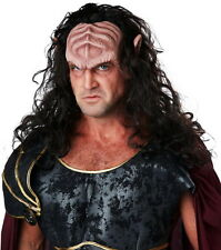 Adult Men Deep Space Warlord Klingon Headpiece Long Brown Hair Forehead Ears