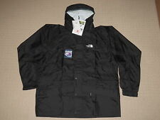 Mens The North Face Windbreaker Rain Hooded Jacket Large Black Stow Pocket NWT