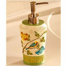 Kitchen Decorating Ideas Hand Lotion Pump Soap Sanitizer Dispenser Bird Floral