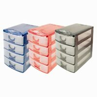 Handy Mini 4 Drawer Tower Storage Unit Office Desktop Drawer Store System Study
