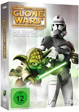 Star Wars The Clone Wars Die komplette sechste Staffel! 3 Dvd´s!Neu & OVP