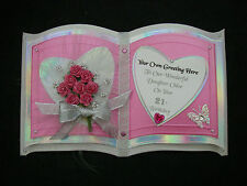 Customised ORIENTAL 3D OPEN BOOK Birthday Card Daughter 30 40 BOUQUET Flowers PT