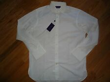 NWT  Ralph Lauren Purple Label Long Sleeve 100% Cotton Shirt sz 16