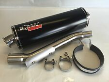 SUZUKI VANVAN RV125 SATIN BLACK OVAL ROAD LEGAL RACE CAN EXHAUST