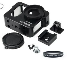 HQ Metal Protective Case Housing Tripod Mount for Gopro Hero 3+ 4 black • UK •