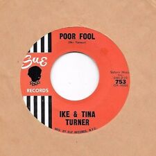 IKE & TINA TURNER * 45 * You Can't Blame Me / Poor Fool * early 1960s * NM ! SUE