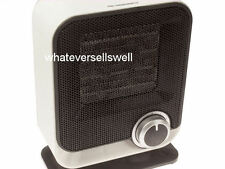 SMALL LOW WATTAGE 1500w ELECTRIC CERAMIC FAN HEATER camping caravan travel diddy