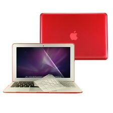 "3in 1 Crystal RED Case Cover for Macbook Air 13"" A1369 + Key Cover + LCD Screen"