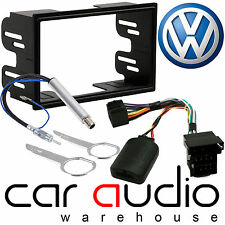 VW Golf MK4 Double Din Car Stereo Fascia Aerial & Steering Wheel Interface Kit