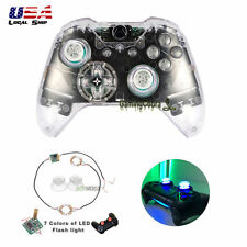 Clear Full Set Shell Buttons Led Light Thumb stick Cover for Xbox One Controller