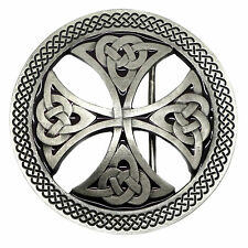 Celtic Knot Belt Buckle Cut Out Circular Round Cross Official Branded Product