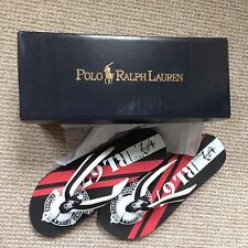 Brand new men Ralph Lauren Black & White Eastham Flip Flops. Size 10. RRP. £70