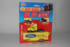 MIGHTY MACHINES BIG RIG TRUCK FORD TRACTOR TRAILER, 1:64 SCALE. BOXED