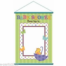 BABY SHOWER TINY BUNDLE SIGN IN SHEET ~ Birthday Party Supplies Decorations