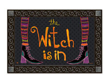 "THE WITCH IS IN - 18"" x 30"" doormat by MatMate - a fun Halloween greeting!"