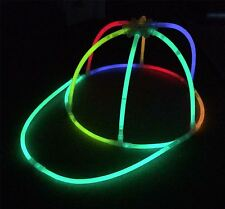 6x Glow in the Dark Cap - Glowing Hats - Glow Sticks, Parties, Festivals