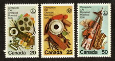 Canada--#684-86 MNH--Montreal Summer Olympics--1976