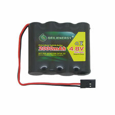 GeiLienergy 1Pcs 4.8V 2000mAh Flat Receiver RX NiMH Battery Pack Ship From USA