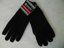 Isotoner Casual Chenille Knit Gloves Black Thinsulate Lined One Size #C166