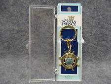 Vintage M/S Scotia Prince Souvenir Ship Ships Wheel Key Chain Mint In Box