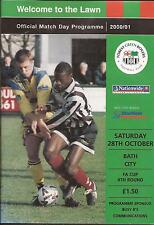 Football Programme - Forest Green Rovers v Bath City - FA Cup - 2000