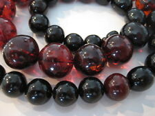 CATENA succinico Baltic AMBER NECKLACE Cherry beads BALLS XXL