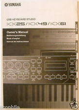 Yamaha KX25 KX49 KX61 USB Keyboard Original Owner's User's Operating Manual