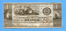 1838 $1 Farmers Bank of Sandstone,Barry,Michigan, Nice note (#1639)