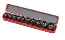 Lot de 10 Douilles Clé à Chocs - Longueur 38mm en coffret - RIBIMEX