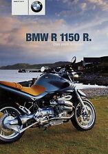 Prospekt BMW R 1150 R 11 00 2000 Motorradprospekt Broschüre brochure broschyr