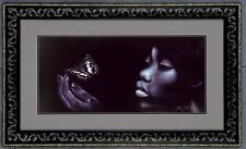 """African American Black Art Print """"BLACK BUTTERFLY"""" by Michael Wallace"""