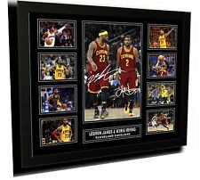 LEBRON JAMES & KYRIE IRVING CLEVELAND SIGNED LIMITED EDITION FRAMED MEMORABILIA