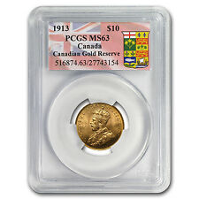 1913 Canada Gold $10 Reserve MS-63 PCGS - SKU #81126
