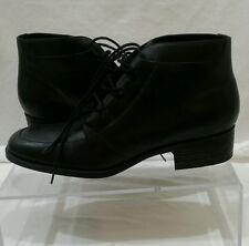 Danexx D-Potomac Black Leather Lace Ankle Boots Size 9M EUC